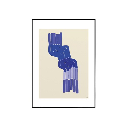 The posterclub- Blue shapes (블루쉐입스) 50x70