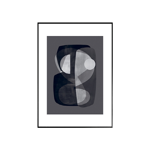 The posterclub-  추상 큐비즘 (abtract-cubism) BW 50x70