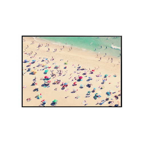 Ingrid Beddoes- 나자렛 비치(Nazare beach umbrellas) 70x50cm