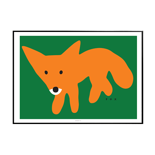 Warmgreytail- RED FOX-GREEN 30x40 / 50x70