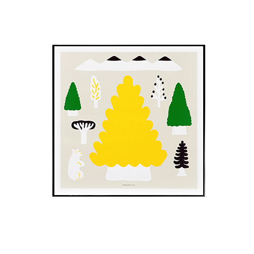 Warmgreytail- MY YELLOW TREE 50x50